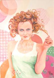 Vanessa Paradis - Acrylique sur toile