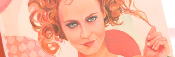 Acrylique sur toile - vanessa paradis - disponible